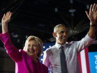Former president Barack Obama and defeated Democratic presidential nominee Hillary Clinton, pictured in 2016, were targeted with suspected explosive devices sent to their respective homes