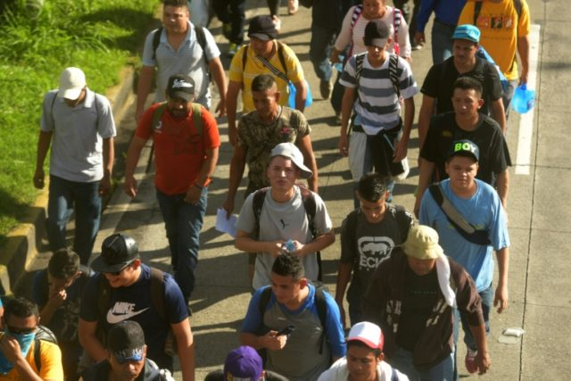 Hundreds of Salvadorans are on the march in the hope of emulating the much larger Honduran caravan already in Mexico and US-bound