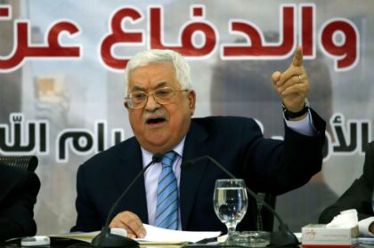 Palestinian president Mahmud Abbas speaks during a meeting with the Palestinian Central Council in the West Bank city of Ramallah on October 28, 2018