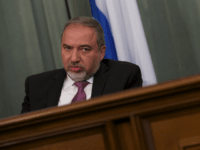 Israeli Foreign Minister Avigdor Lieberman listens during a news conference after his talks with Russian counterpart Sergey Lavrov in Moscow, Russia, Monday, Jan. 26, 2015. (AP Photo/Ivan Sekretarev)