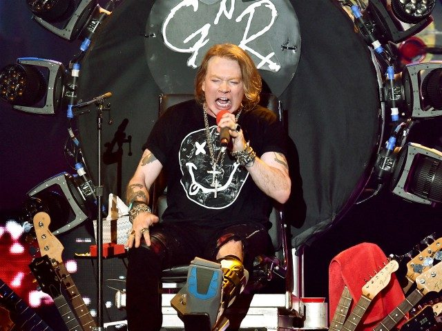 INDIO, CA - APRIL 16: Singer Axl Rose of Guns N' Roses performs onstage during day 2 of the 2016 Coachella Valley Music & Arts Festival Weekend 1 at the Empire Polo Club on April 16, 2016 in Indio, California. (Photo by Kevin Winter/Getty Images for Coachella)