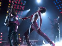 "This image released by Twentieth Century Fox shows Gwilym Lee, from left, Rami Malek and Joe Mazzello in a scene from ""Bohemian Rhapsody."" (Alex Bailey/Twentieth Century Fox via AP)"