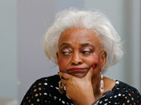 Dr. Brenda Snipes, Broward County Supervisor of Elections, listens during a canvassing board meeting on November 10, 2018 in Lauderhill, Florida. Three close midterm election races for governor, senator, and agriculture commissioner are expected to recounted in Florida. (Photo by Joe Skipper/Getty Images)