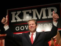 eorgia Republican gubernatorial candidate Brian Kemp gives a thumbs-up to supporters, Wednesday, Nov. 7, 2018, in Athens, Ga. (AP Photo/John Bazemore)