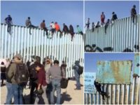 Watch–Caravan Migrants Arrive at Southern Border, Scale Fence
