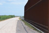 Existing section of border wall in the Rio Grande Valley Sector abruptly stops along the levee separating Texas from Mexico. (File Photo: Bob Price/Breitbart News)