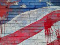 Defaced Flag Mural