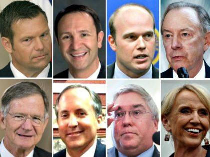 Kris Kobach, Jeff Landry, Matthew Whitaker, Lamar Smith, Judge A. Raymond Randolph, Ken Paxton, Patrick Morrissey, Jan Brewer