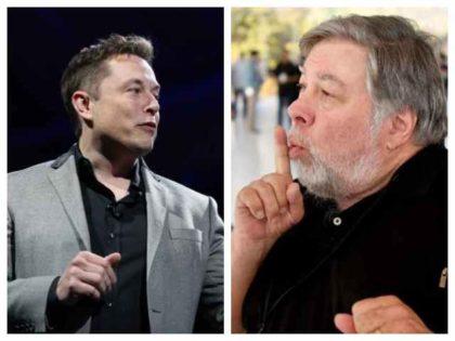 Tesla's Elon Musk and Steve Wozniak
