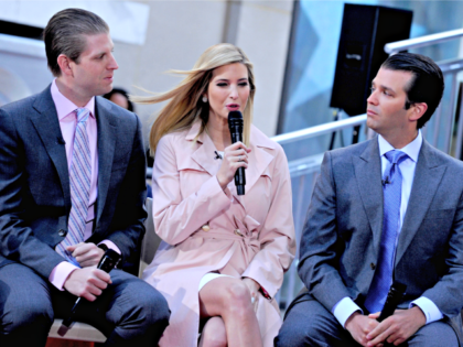 Ivanka Trump, with Donald Trump, Jr. and Eric Trump on The TODAY Show for a live town hall. (NYC)