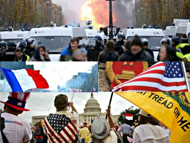 French Protests, Tea Party Protests AP