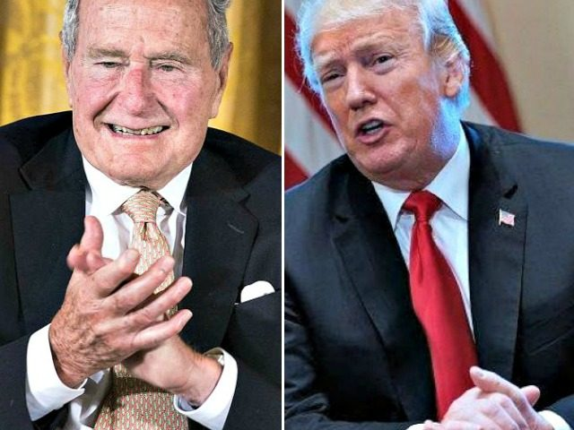 George HW Bush, Donald Trump