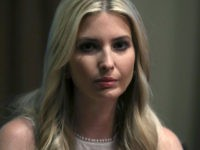 WASHINGTON, DC - JULY 17: Ivanka Trump listens to her father U.S. President Donald Trump as he talks about his meeting with Russian President Vladimir Putin, during a meeting with House Republicans in the Cabinet Room of the White House on July 17, 2018 in Washington, DC. Following a diplomatic …