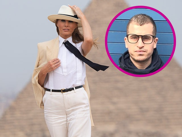 US First Lady Melania Trump tours the Egyptian pyramids and Sphinx in Giza, Egypt, October 6, 2018, the final stop on her 4-country tour through Africa. (Photo by SAUL LOEB / AFP) (Photo credit should read SAUL LOEB/AFP/Getty Images)