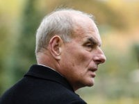 Retired United States Marine Corps general and White House Chief of Staff John F Kelly visits the Aisne-Marne American Cemetery and Memorial in Belleau, on November 10, 2018 as part of commemorations marking the 100th anniversary of the 11 November 1918 armistice, ending World War I. (Photo by Geoffroy VAN …
