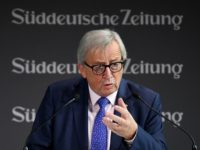 EU Commission President Jean-Claude Juncker speaks at the economic forum organised by German daily newspaper Sueddeutsche Zeitung on November 12, 2018 in Berlin. (Photo by Britta Pedersen / dpa / AFP) / Germany OUT (Photo credit should read BRITTA PEDERSEN/AFP/Getty Images)
