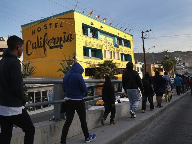 Tijuana residents protest migrant caravan camped in city