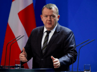 Danish Prime Minister Lars Lokke Rasmussen speaks during a joint press conference with German Chancellor on November 20, 2018 in Berlin. (Photo by Tobias SCHWARZ / AFP) (Photo credit should read TOBIAS SCHWARZ/AFP/Getty Images)
