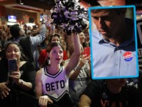 HOUSTON, TEXAS - NOVEMBER 05: Louise Pennebaker dresses as a cheerleader for U.S. Senate candidate Rep. Beto O'Rourke (D-TX) during a campaign rally at the House of Blues on November 05, 2018 in Houston, Texas. With less than 24 hours until Election Day, polls have shown the gap narrow between …