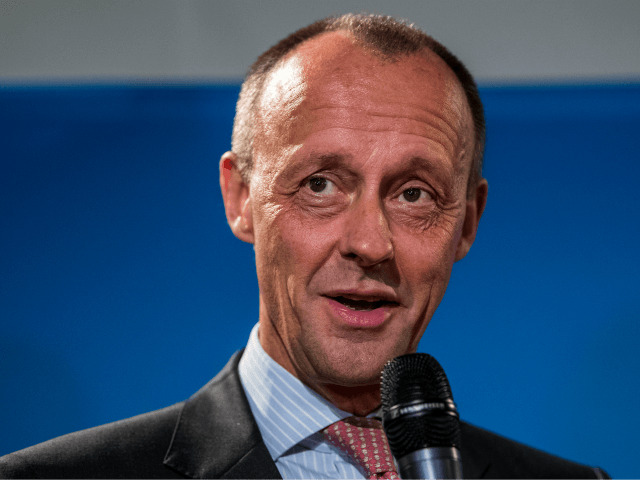 DUSSELDORF, GERMANY - NOVEMBER 06: Friedrich Merz, CDU Bundestag faction leader in 2000-2002, attends a press conference to the speak to media before attending a meeting of the CDU North Rhine-Westphalia state parliamentary group on November 6, 2018 in Dusseldorf, Germany. Both men, as well as current CDU General Secretary …