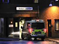 An ambulance arrives at the emergency entrance at the Karolinska hospital in Stockholm on March 30, 2012 where former French Prime Minister Michel Rocard was taken into intensive care. Rocard, an 81-year-old Socialist veteran, has fallen ill in the Swedish capital and was treated in intensive care, the French foreign …