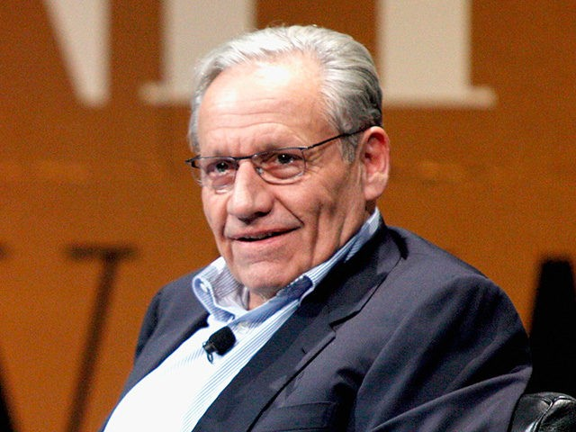 "SAN FRANCISCO, CA - OCTOBER 08: The New York Post Associate Editor and Moderator Bob Woodward speak onstage during ""Why Can't Tech Save Politics?"" at the Vanity Fair New Establishment Summit at Yerba Buena Center for the Arts on October 8, 2014 in San Francisco, California. (Photo by Kimberly White/Getty …"