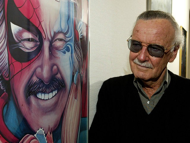 BEVERLY HILLS, CA - JUNE 18: Spider-Man creator Stan Lee poses at his office on June 18, 2004 in Beverly Hills, California. (Photo by Vince Bucci/Getty Images)