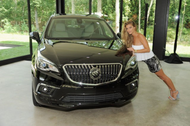 EAST HAMPTON, NY - AUGUST 12: Model Nina Abdal attends the Buick celebration of the new Envision in the Hamptons at Buick Studio Envision on August 12, 2016 in East Hampton, New York. (Photo by Matthew Eisman/Getty Images for Buick)