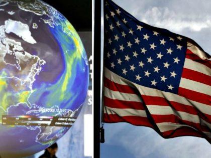 Globe, American Flag