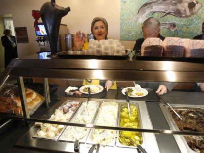 Hillary Clinton at Buffet