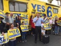 Yes on 6 Proposition 6 rally (Joel Pollak / Breitbart News)