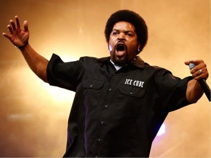 SYDNEY, AUSTRALIA - APRIL 15: Ice Cube performs live on stage during Supafest 2012 at ANZ Stadium on April 15, 2012 in Sydney, Australia. (Photo by Brendon Thorne/Getty Images)
