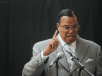 Minister Louis Farrakhan, leader of the Nation of Islam, speaks at a press conference near United Nations headquarters on June 15, 2011 in New York City. Farrakhan expressed support for Libyan leader Moammar Gadhafi and condemned the NATO-led military strikes in Libya. Former U.S. Attorney General Ramsey Clark also called …