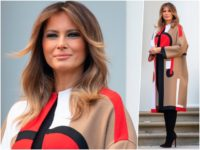 Fashion Notes: Melania Trump is Ready for Thanksgiving in Daring Dior Coat