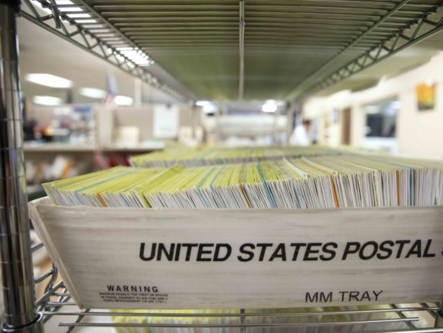 Mailed-in ballots (Alex Edelman / Getty)