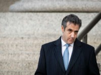Michael Cohen, former personal attorney to President Donald Trump, exits federal court, November 29, 2018 in New York City. At the court hearing, Cohen pleaded guilty to making false statements to Congress about a Moscow real estate project Trump pursued during the months he was running for president. (Photo by …