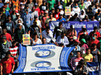Central America Migrant Caravan A group of Central American migrants, representing the thousands participating in a caravan trying to reach the U.S. border, undertake an hours-long march to the office of the United Nations' humans rights body in Mexico City, Thursday, Nov. 8, 2018. Members of the caravan which has …