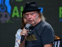 PITTSBURGH, PA - SEPTEMBER 16: Neil Young answers questions during 2017 Farm Aid on September 16, 2017 in Burgettstown, Pennsylvania. (Photo by Matt Kincaid/Getty Images)