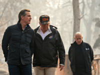 Trump California Wildfires President Donald Trump talks with California Gov.-elect Gavin Newsom during a visit to a neighborhood destroyed by the wildfires, Saturday, Nov. 17, 2018, in Paradise, Calif. At right is California Gov. Jerry Brown.