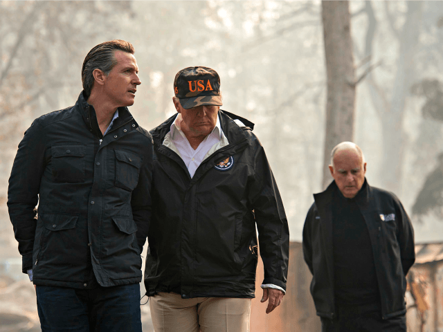 Donald Trump Joins Democrats in California in Response to Wildfires