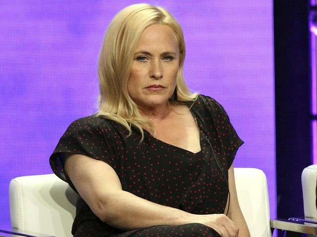 "Patricia Arquette participates in the ""Escape at Dannemora"" panel during the Showtime Television Critics Association Summer Press Tour at The Beverly Hilton hotel on Thursday, Aug. 2, 2018, in Beverly Hills, Calif. (Photo by Willy Sanjuan/Invision/AP)"