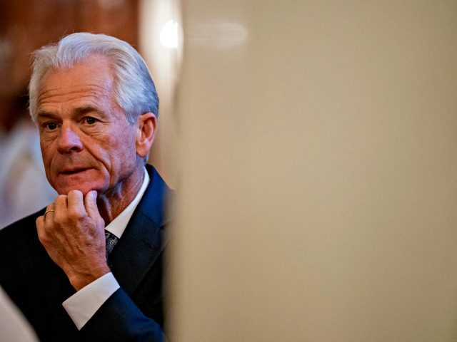 White House trade adviser Peter Navarro arrives for a ceremony where President Donald Trump awards the Medal of Honor to Air Force Tech. Sgt. John A. Chapman, posthumously for conspicuous gallantry in the East Room of the White House in Washington, Wednesday, Aug. 22, 2018.