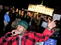 "Protesters gather in front of the White House in Washington, Thursday, Nov. 8, 2018, as part of a nationwide ""Protect Mueller"" campaign demanding that Acting U.S. Attorney General Matthew Whitaker recuse himself from overseeing the ongoing special counsel investigation."