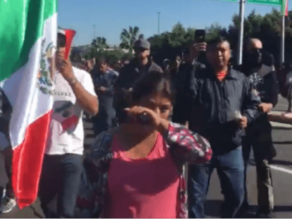 Mexican Protesters March to Kick Out Caravan Migrants from Tijuana Shelters