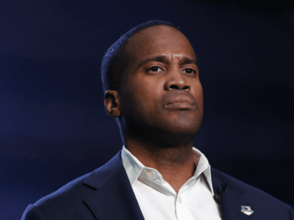 Republican U.S. Senate candidate John James speaks during a rally in Pontiac, Mich., Wednesday, Oct. 17, 2018. (AP Photo/Paul Sancya)