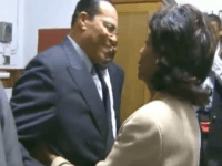 Louis Farrakhan embraces Maxine Waters (Screenshot / YouTube)