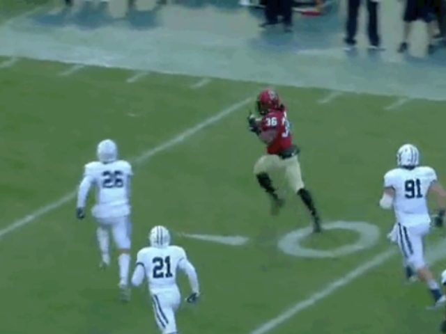 Harvard TD Gets Called Back After RB Gives Defense The Middle Finger