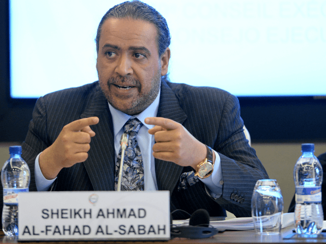 Sheikh Ahmad Al-Fahad Al-Sabah President of ANOC during the 69th ANOC Executive Council Meeting at ANOC headquarters on April 4, 2016 in Lausanne, Switzerland. (Photo by Mark Runnacles/Getty Images)