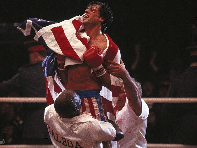 Sylvester Stallone, Tony Burton, and Burt Young in Rocky IV (Metro-Goldwyn-Mayer Studios Inc.,1985)