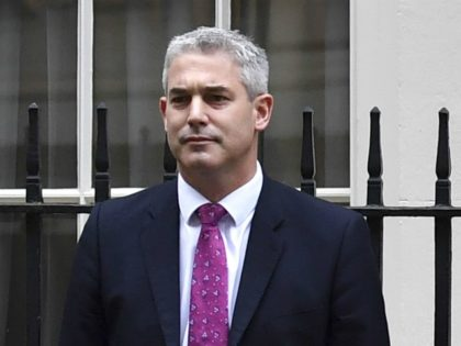(FILES) A picture taken on November 11, 2017 shows Stephen Barclay, Economic Secretary to the Treasury posing outside 11 Downing Street in London during the unveiling of the government's annual Autumn budget. - Stephen Barclay has been named UK's new Brexit secretary on November 16, 2018. (Photo by Ben STANSALL …